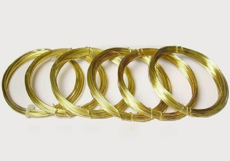 Brass Non Tarnish Round Wire Coil 0.2mm - 1.5mm Not Plated